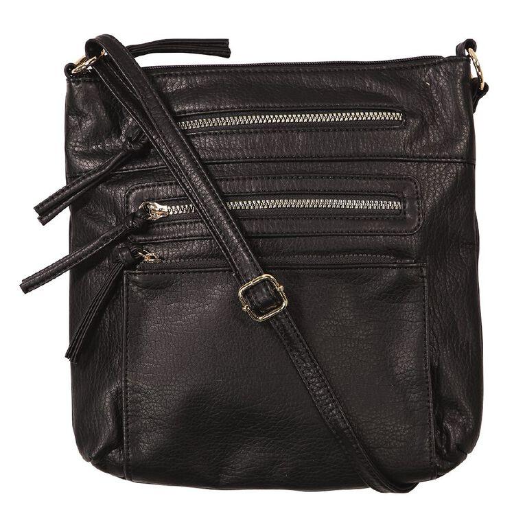 H&H Crossbody Handbag, Black, hi-res