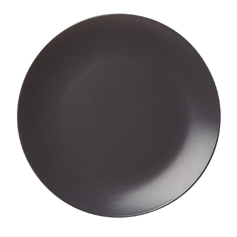 Living & Co Matte Coast Dinner Plate Charcoal 27cm, , hi-res
