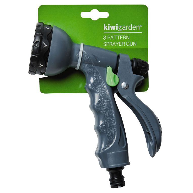 Kiwi Garden 8 Pattern Sprayer Gun Grey, , hi-res