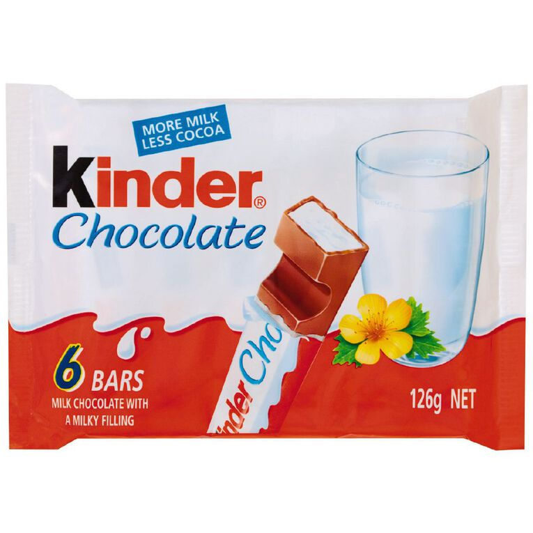 Kinder Chocolate T6 126g, , hi-res