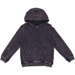 Young Original Pull Over Acid Wash Hoodie Sweatshirt