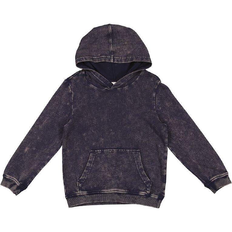 Young Original Pull Over Acid Wash Hoodie Sweatshirt, Blue Mid, hi-res