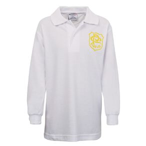 Schooltex St Patrick's Panmure Long Sleeve Polo with Screenprint