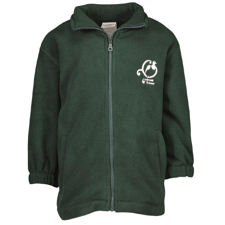Schooltex Lucknow Polar Fleece Jacket with Embroidery, Bottle Green, hi-res