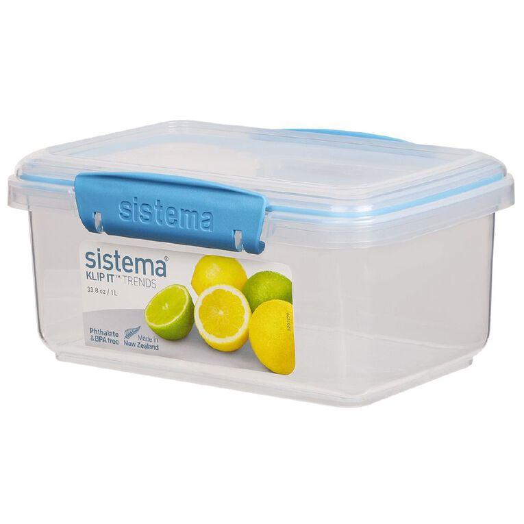 Sistema Klip It Rectangular Container Spring Tone Assorted 1L, , hi-res