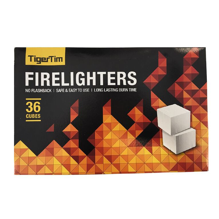 Tiger Tims Firelighters 36 Pack, , hi-res