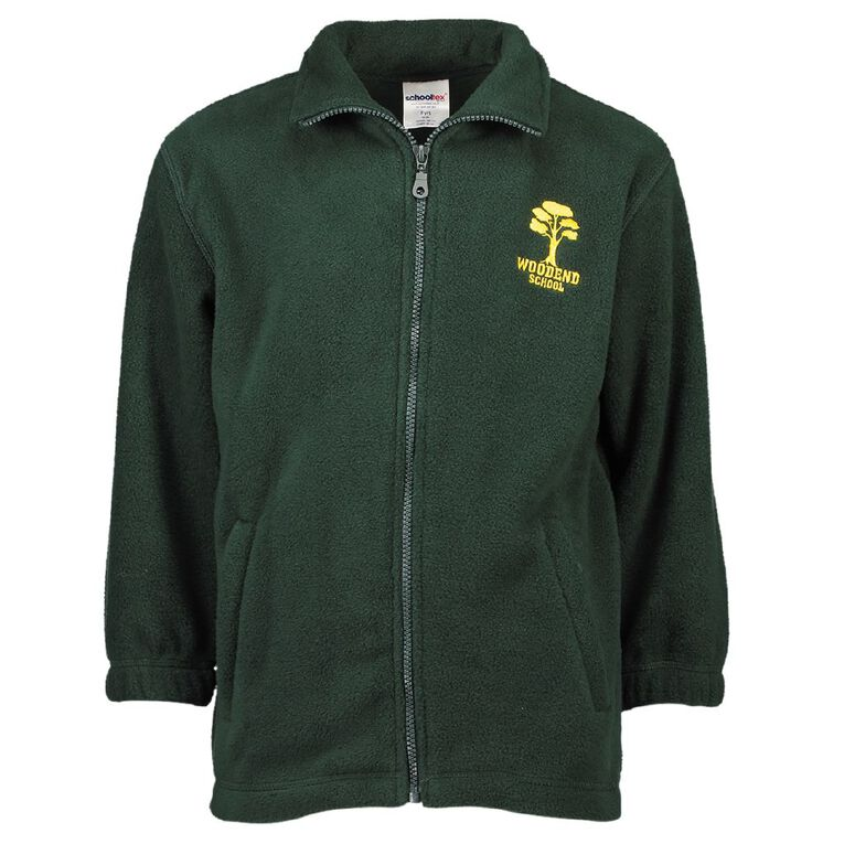 Schooltex Woodend Polar Fleece Jacket with Embroidery, Bottle Green, hi-res