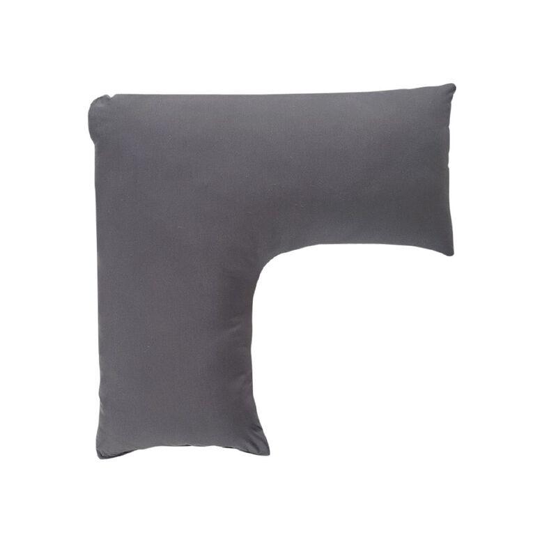 Living & Co Pillowcase Tri Cotton Rich 270 Thread Count Charcoal 76cm, Charcoal, hi-res