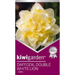 Kiwi Garden Daffodil Double White Lion 20PK