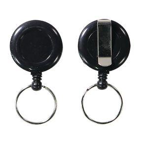 Impact Retractable Key Chain Mini Black 2 Pack
