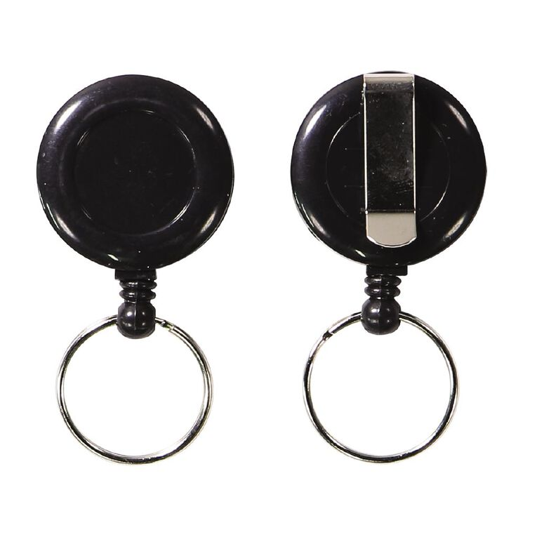 Impact Retractable Key Chain Mini Black 2 Pack, , hi-res