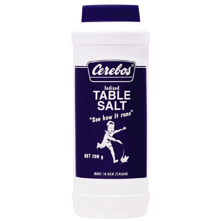 Cerebos Salt Iodised Drum 700g, , hi-res