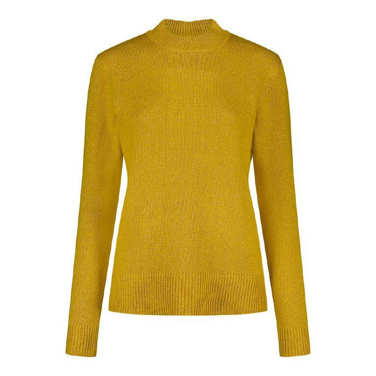 Pickaberry Women's Soft Crew Collar Jumper, Yellow Mid, hi-res