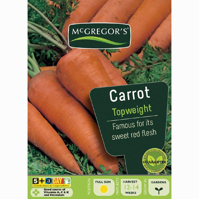 McGregor's Top Weight Carrot Vegetable Seeds, , hi-res