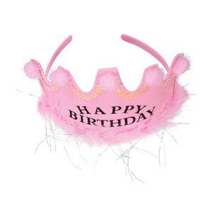 Party Inc Happy Birthday Headband Pink