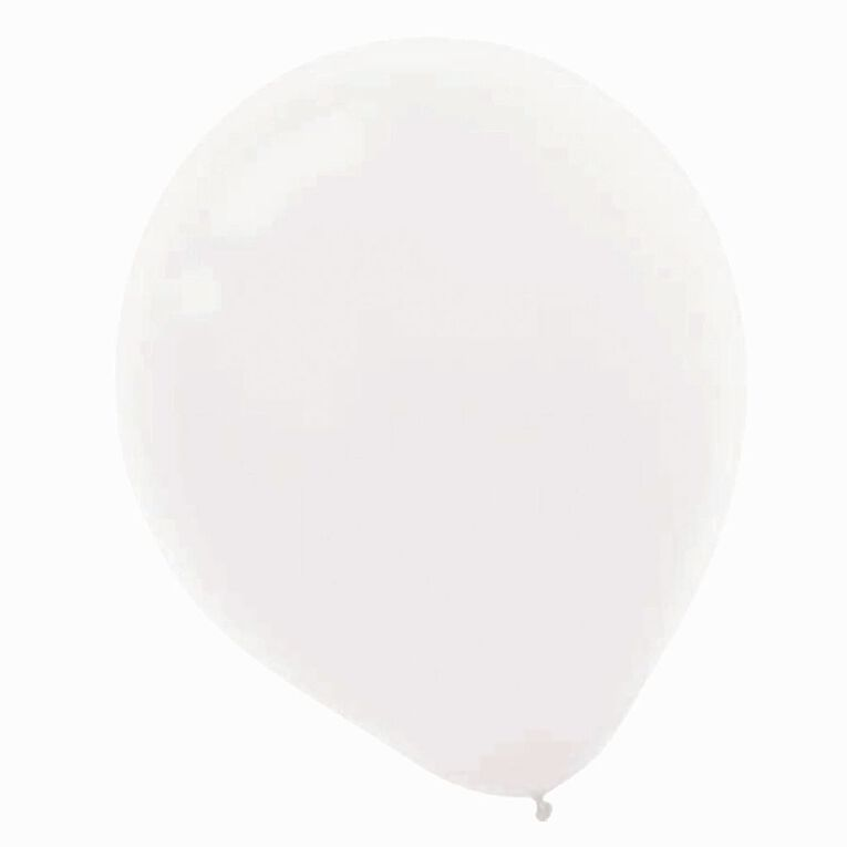 Amscan Latex Balloons 30cm White 15 Pack, , hi-res