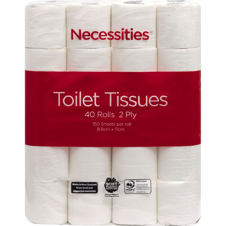 Necessities Brand Toilet Tissue 40 Pack White, , hi-res