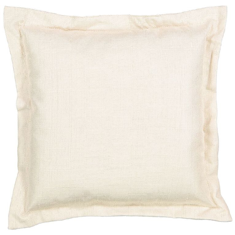 Living & Co Slub Cushion Taupe 38cm x 38cm, Taupe, hi-res image number null