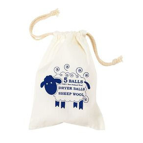 Living & Co Wool Dryer Ball 6cm Natural 5 Pack