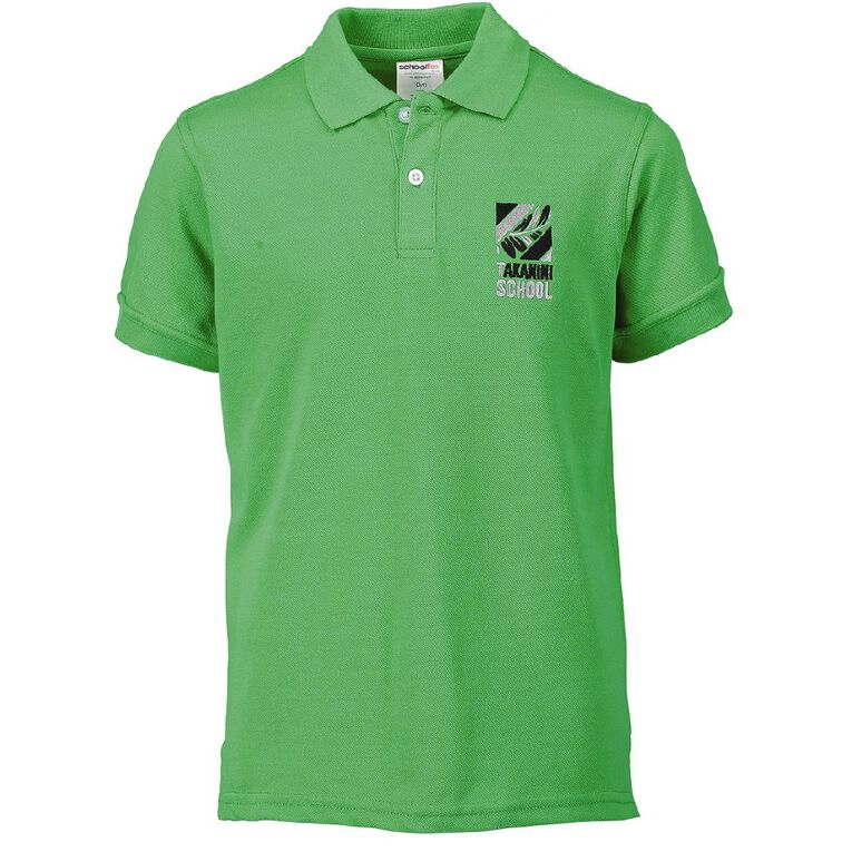 Schooltex Takanini School Short Sleeve Polo with Embroidery, Green, hi-res