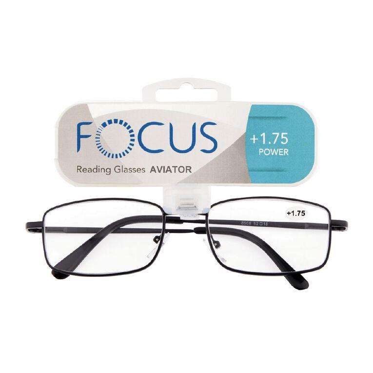 Focus Reading Glasses Aviator Power 1.75, , hi-res