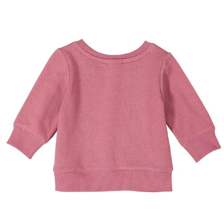 Young Original Baby Printed Sweatshirt, Pink Mid KINDNESS, hi-res