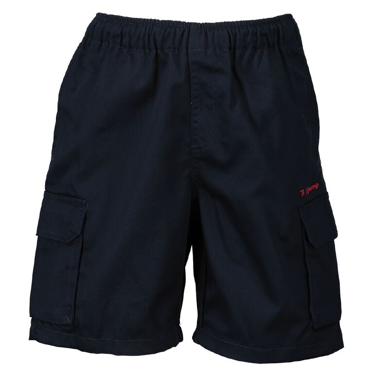 Schooltex Te Matauranga Drill Shorts with Embroidery, Navy, hi-res