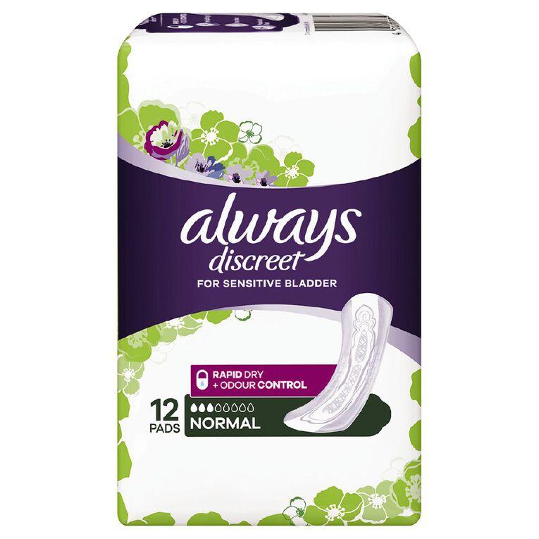 Always Discreet Pad Normal 12 Pack, , hi-res