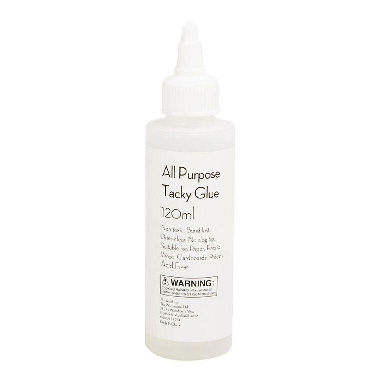 Uniti All Purpose Tacky Glue Clear 120ml, , hi-res