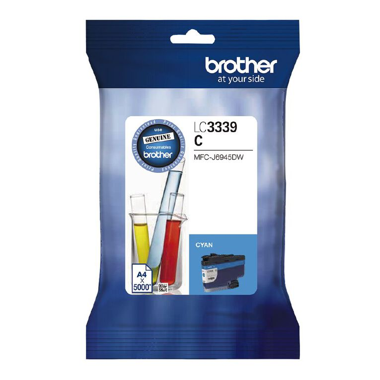 Brother Ink LC3339XLC Cyan (5000 Pages), , hi-res