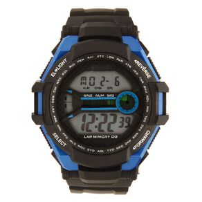 Active Intent Men's Sports Digital Watch Black Blue
