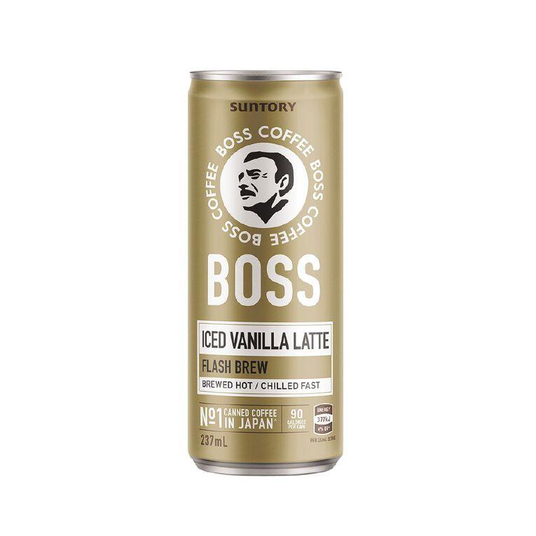 BOSS Coffee Iced Vanilla Latte 237ml, , hi-res