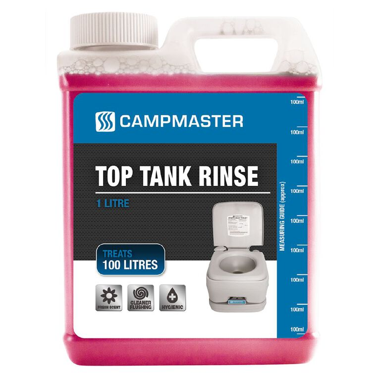 Campmaster Toilet Chemical for Top Fresh Water Tank 1L, , hi-res