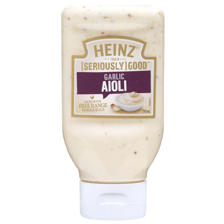 Heinz Seriously Good Aioli Squeezy 295ml, , hi-res
