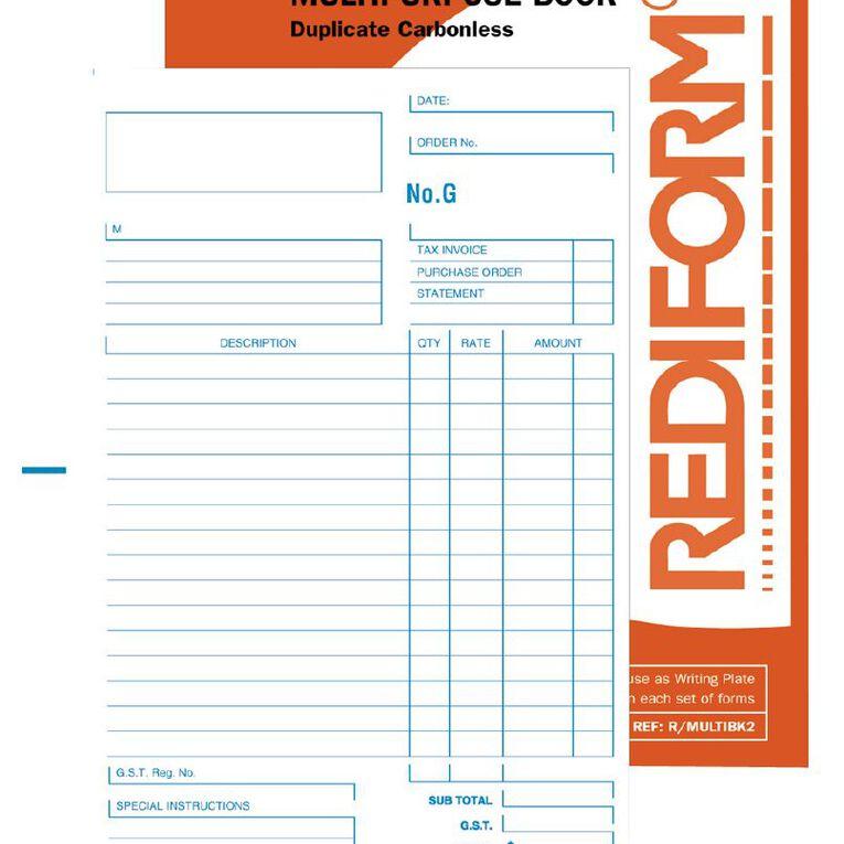 Rediform Multipurpose Book Duplicate 50 Sets Orange A5, , hi-res