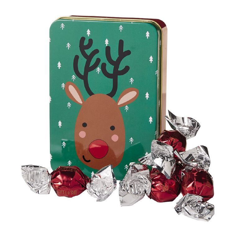 Christmas Tin with Chocolate Truffles 80g, , hi-res