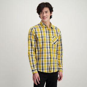H&H Men's Long Sleeve Classic Check Shirt