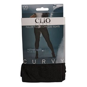 Clio Curvy Opaque Velvet Pantyhose 120 Denier 1 Pack