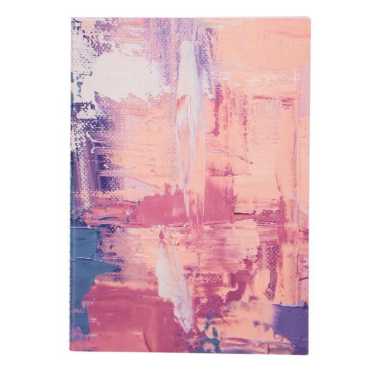 Uniti Fun & Funky Q4 Softcover Stitch Bound Notebook Paint Pink A5, , hi-res