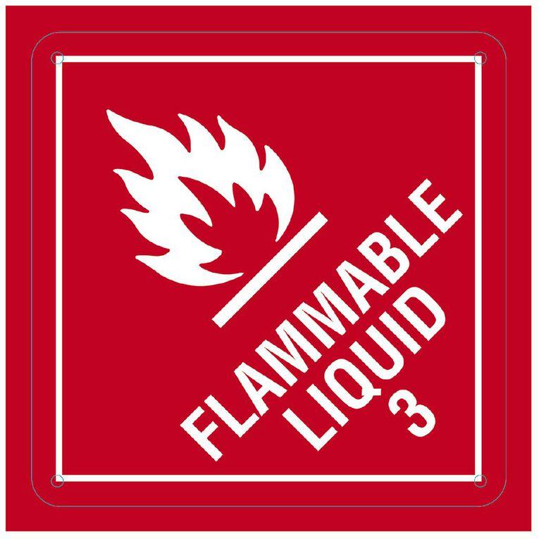WS Flammable Liquid Sign Small 300mm x 300mm, , hi-res