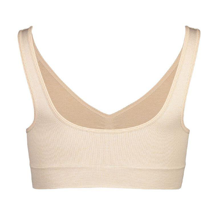 B FOR BONDS Women's Comfy Crop, Natural, hi-res