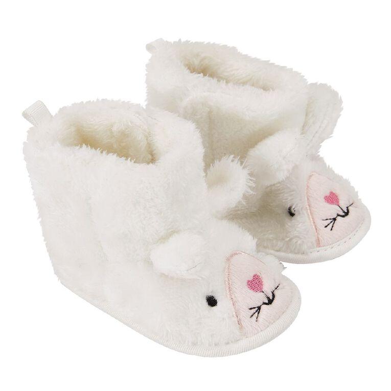 Young Original Infants' Novelty Slippers, White, hi-res
