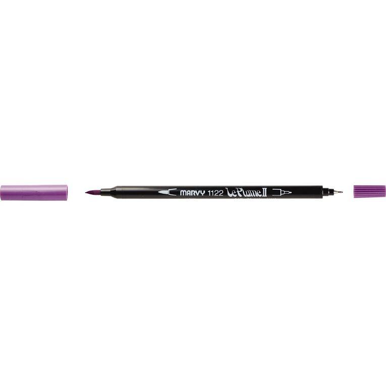 MARVY Le Plume II Dual Tip Marker Pale Violet, , hi-res