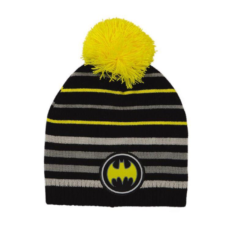 Batman Kids' Batman Beanie, Black, hi-res