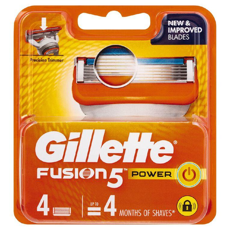 Gillette Fusion Power Cart 4 Pack, , hi-res