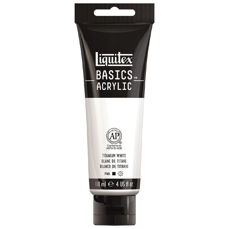 Liquitex Basics Acrylic 118ml Titanium White, , hi-res