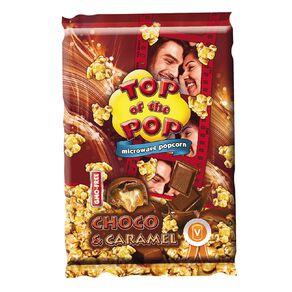 Top of the Pop Microwave Popcorn Chocolate & Caramel 100g