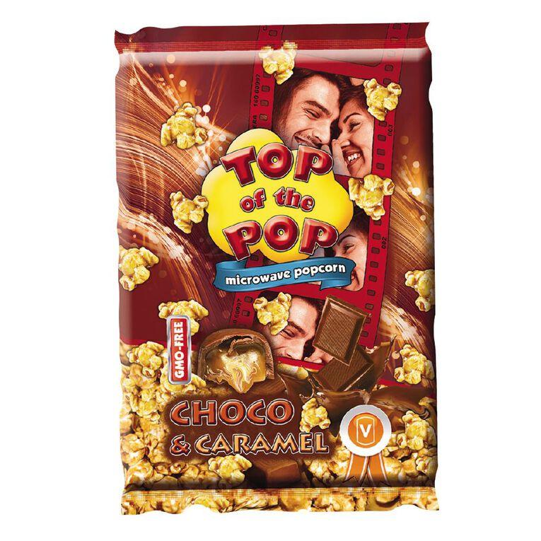 Top of the Pop Microwave Popcorn Chocolate & Caramel 100g, , hi-res