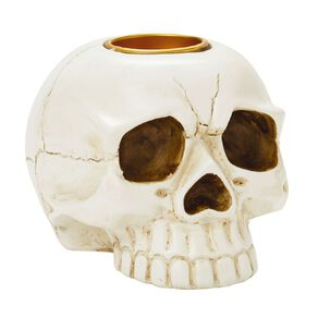 Scarehouse Skull Candle Holder 10cm x 14cm