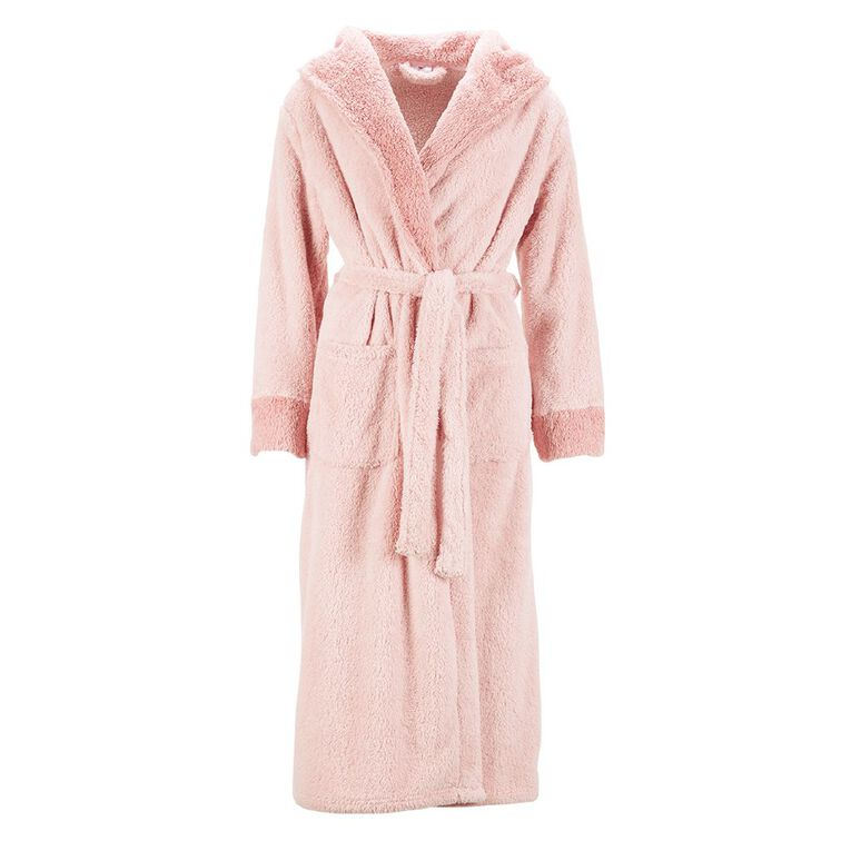 H&H Women's Shaggy Robe, Pink Dark, hi-res